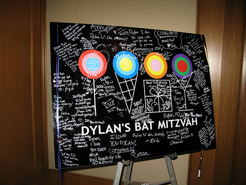 providing boston with sign in boards for bat mitzvahs bar mitzvahs